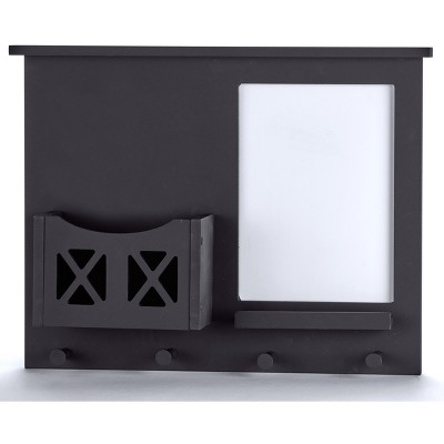Lakeside Wall-Mounted Barndoor Mail and File Holder with Mini White Board