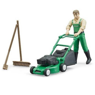 Bruder bworld Gardener with Lawn Mower and Accessories
