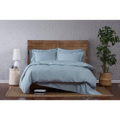 Full/Queen 3pc Classic Cotton Duvet Set Light Blue - Brooklyn Loom