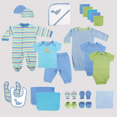 Luvable Friends Baby 24pc Gift Cube Bodysuit - Blue/Green 0-6M