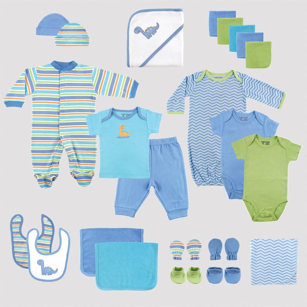 Image of Luvable Friends Baby 24pc Gift Cube Bodysuit - Blue/Green 0-6M, Kids Unisex