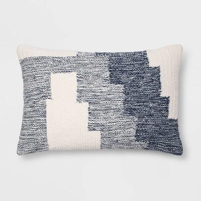 Modern Tufted Geometric Lumbar Throw Pillow Blue - Project 62™