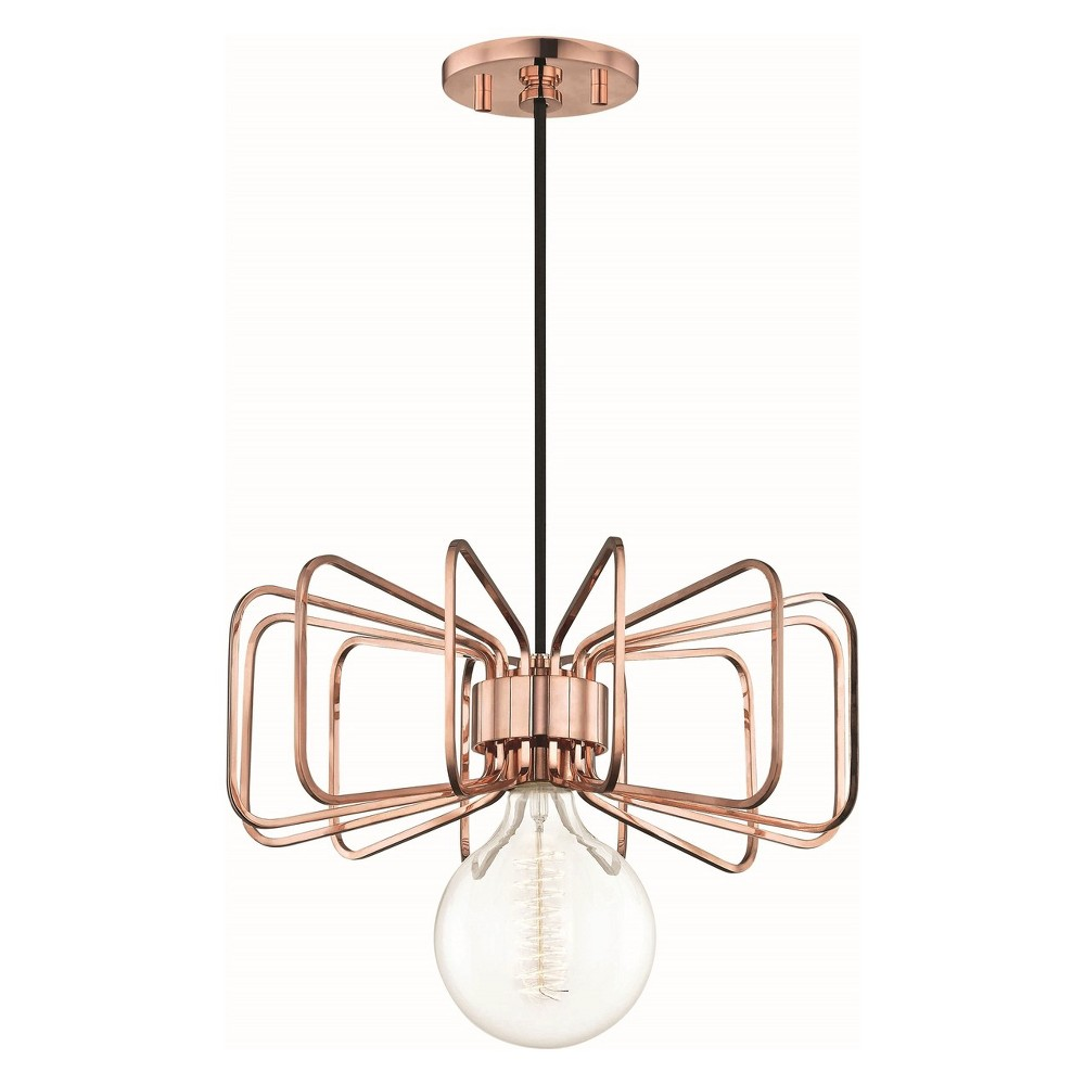 1pc Daisy Light Pendant Copper (Brown) - Mitzi by Hudson Valley