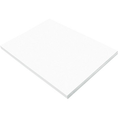 SunWorks Heavyweight Construction Paper, 12 x 18 Inches, Bright White, pk of 100
