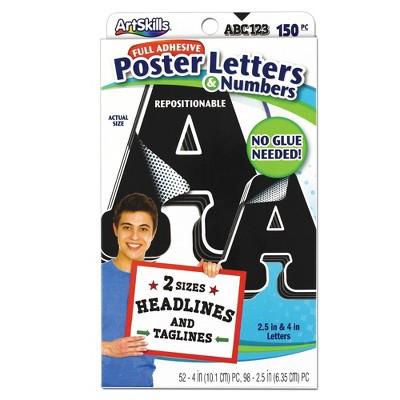 150pc Poster Letters & Numbers - ArtSkills