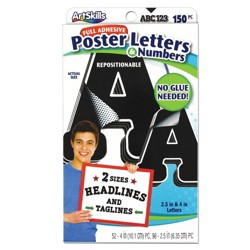 150ct Poster Letters & Numbers - ArtSkills