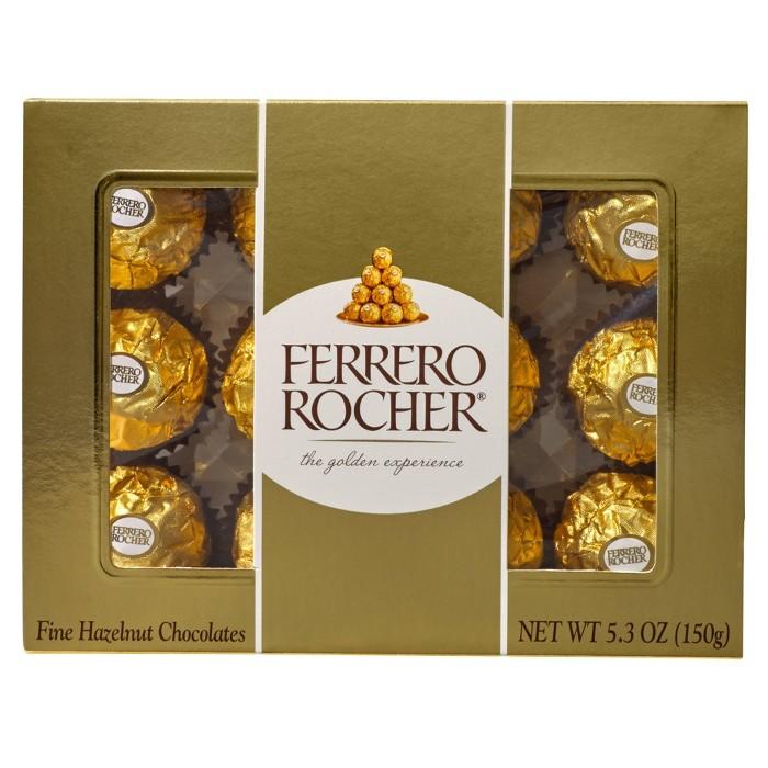 Ferrero Rocher Fine Hazelnut Chocolates - 5.3oz/12ct - image 1 of 7