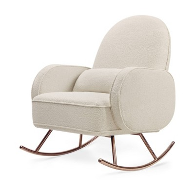Babyletto Madison Swivel Glider - Ivory Boucle/Rose Gold Legs