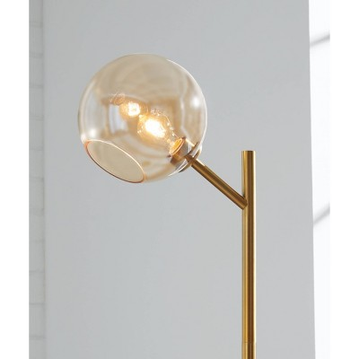 Abanson Floor Lamp Amber/Gold - Signature Design by Ashley