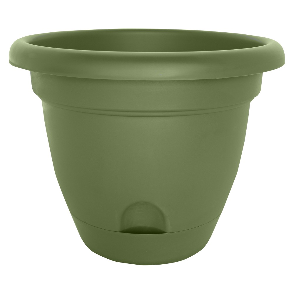 Image of 10 Lucca Self Watering Planter - Living Green - Bloem