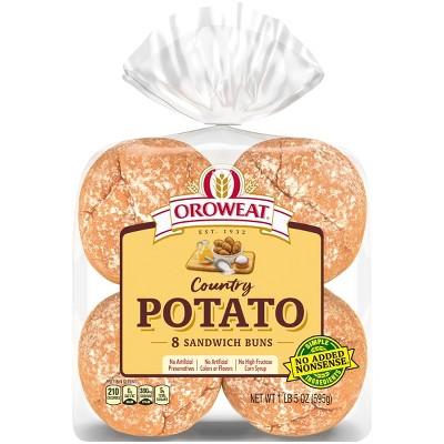 Oroweath Country Potato Hamburger Buns - 21oz/8ct