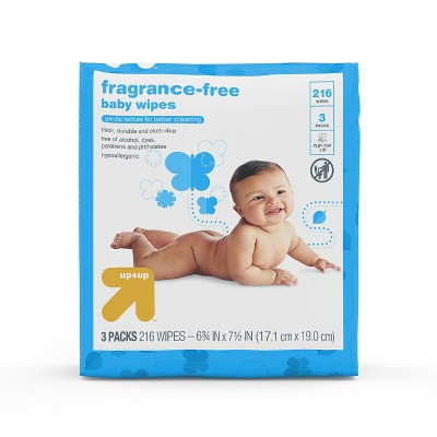 Fragrance Free Baby Wipes Unscented 216ct - Up&Up™