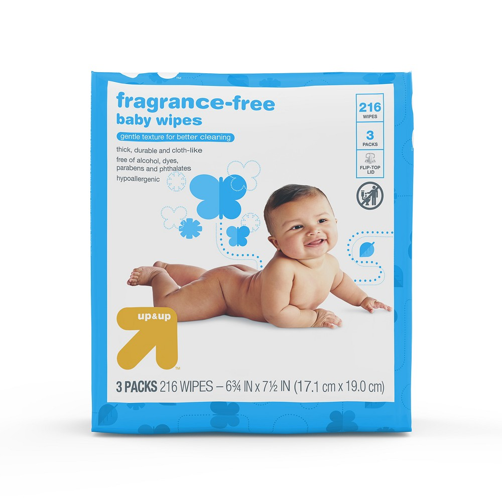 Baby Wipes Unscented 216ct - Up&Up