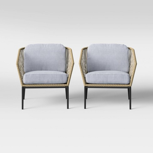 Standish 2pc Patio Club Chair Natural/Gray - Project 62™ - image 1 of 4