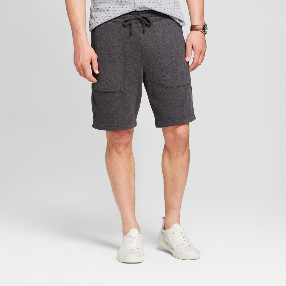 Men's 11 Standard Fit Sensory Friendly Lounge Shorts - Goodfellow & Co Charcoal (Grey) XL