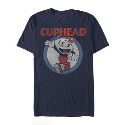 Men's Cuphead Vintage Circle T-Shirt