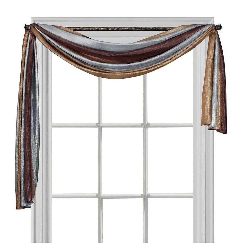 Ombre Window Curtain Scarf Chocolate (Brown) (50