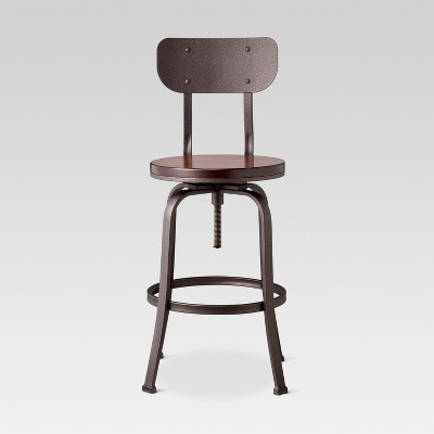 Dakota 29  Backed Adjustable Barstool Antique Bronze - Threshold™