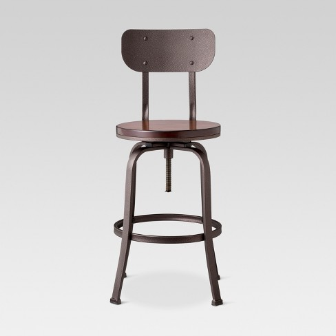 Dakota Adjustable Wood Seat Barstool  - Threshold™ - image 1 of 4