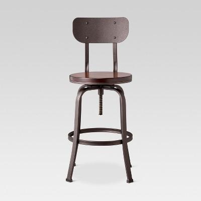 Merveilleux Dakota Backed Adjustable Barstool