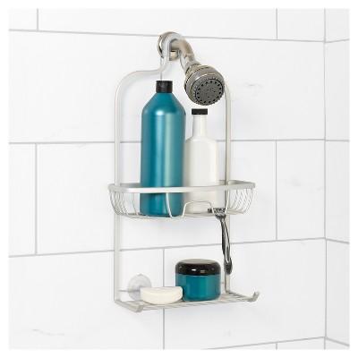 NeverRust Aluminum Shower Caddy Satin Medium Zenna Home
