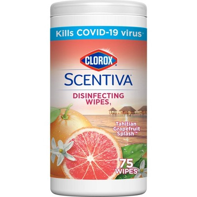 Clorox Disinfecting Wipes - Tahitian Grapefruit - 75ct