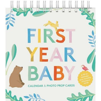 First Year Baby Calendar & Photo Prop Cards - (Hardcover)