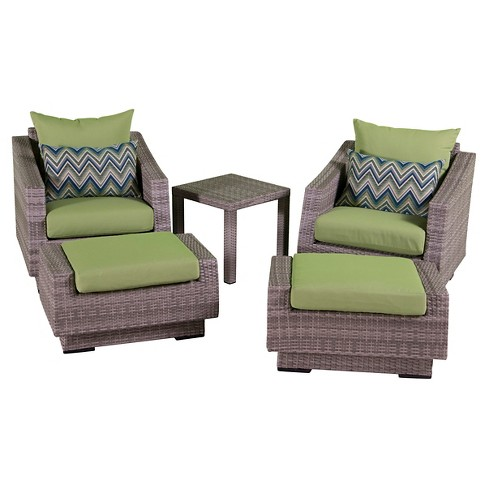 RST Brands Cannes 5-piece Club Chair & Ottoman Set - image 1 of 9