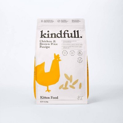 Chicken and Brown Rice Kitten Dry Cat Food - Kindfull™