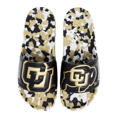 NCAA University of Colorado Buffaloes Embossed Slide Sandals Women's