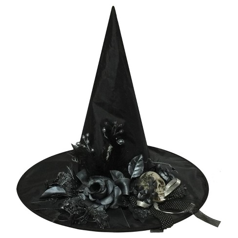 """18 """"Halloween Witch Hat with Bone Skull - image 1 of 1"""