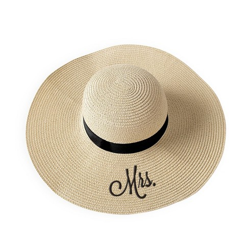 """Mrs"" Natural Sun Tan Hat - image 1 of 4"