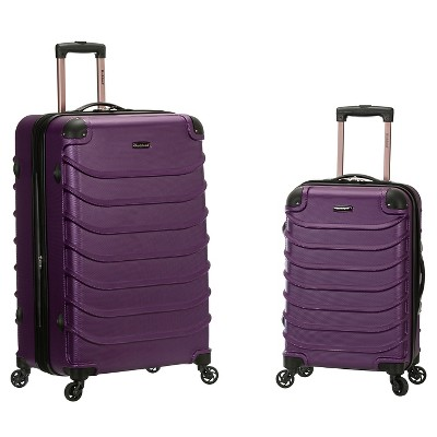 Rockland Special 2pc Expandable ABS Spinner Luggage Set - Purple
