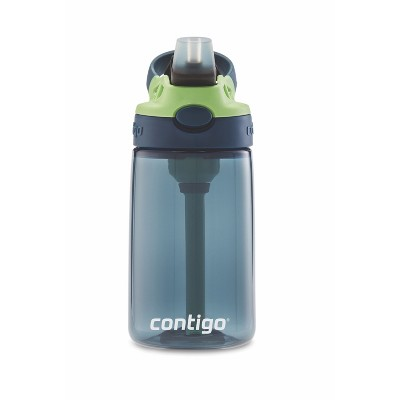 Contigo Autospout 14oz Plastic Kids Straw Water Bottle Blue/Green