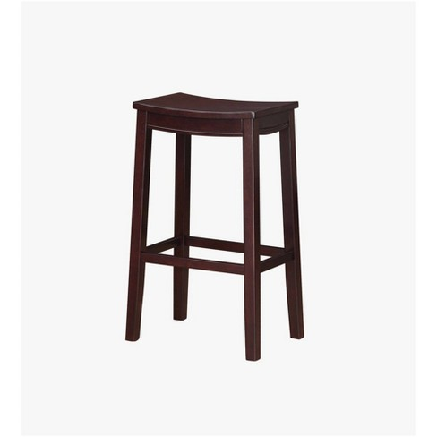 Fantastic Aubree Wooden Bar Saddle Stool Bar Stool Espresso Linon Theyellowbook Wood Chair Design Ideas Theyellowbookinfo