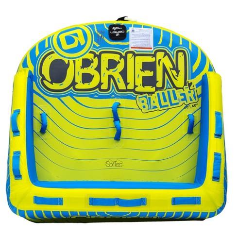 O'Brien Baller Kickback Series 2 Person 2 Way Inflatable Towable Rider Tube - image 1 of 4