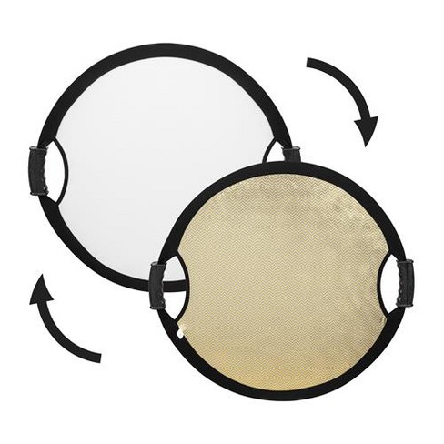 Glow Circular Collapsible Reflector with Handles (22 , Wave Gold/White) - image 1 of 4