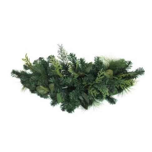 Christmas Swag.Northlight Green Pine Branches With Assorted Foliage Artificial Christmas Swag Unlit 30