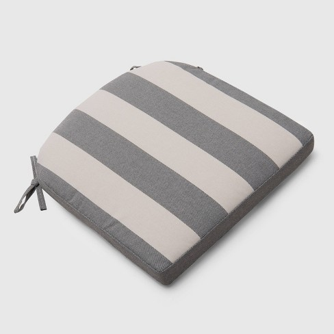 Cabana Stripe Outdoor Round Back Seat Cushion - Threshold™ - image 1 of 3