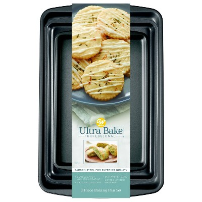 Wilton Ultra Bake Pro 3pc Cookie Sheet Set
