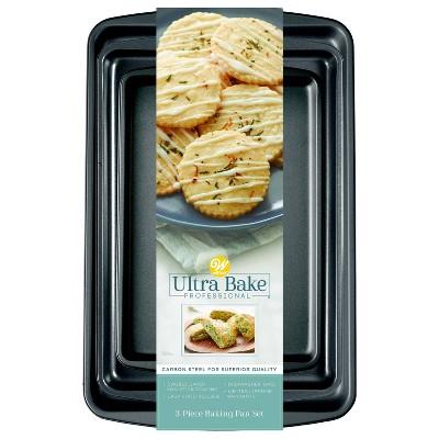 Wilton Ultra Bake Pro 3pc Cookie Sheet Set