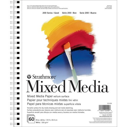 Spiral Mixed Media Paper Pad 60 Sheets 9x12 - Strathmore - image 1 of 3