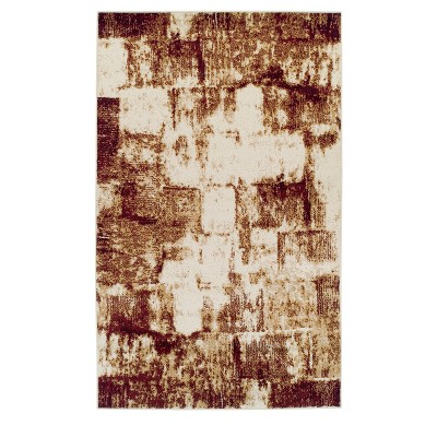 Distressed Modern Geometric Abstract Indoor Area Rug or Runner by Blue Nile Mills