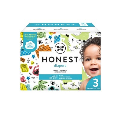 The Honest Company Good Vibes & L8ter Gator Disposable Diapers - Size 3 - 68ct
