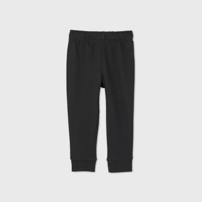 Toddler Boys' Fleece Bottom Pull-On Pants - Cat & Jack™ Black 5T