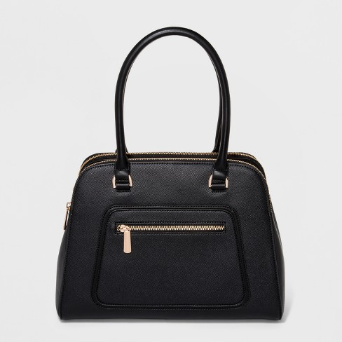 Women's Satchel With Front Zipper Pocket - A New Day™ - image 1 of 10