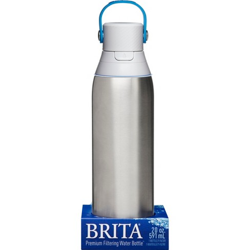 1d05f71465 Brita Premium 20oz Filtering Double Wall Insulated Water Bottle With Filter  BPA Free - Stainless Steel : Target