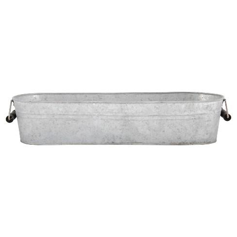 "6.8"" Old Zinc Oval Planter - White - Esschert Design - image 1 of 1"