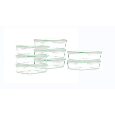 Kinetic Go Green Glassworks Rectangular Food Storage Container Set - 22oz