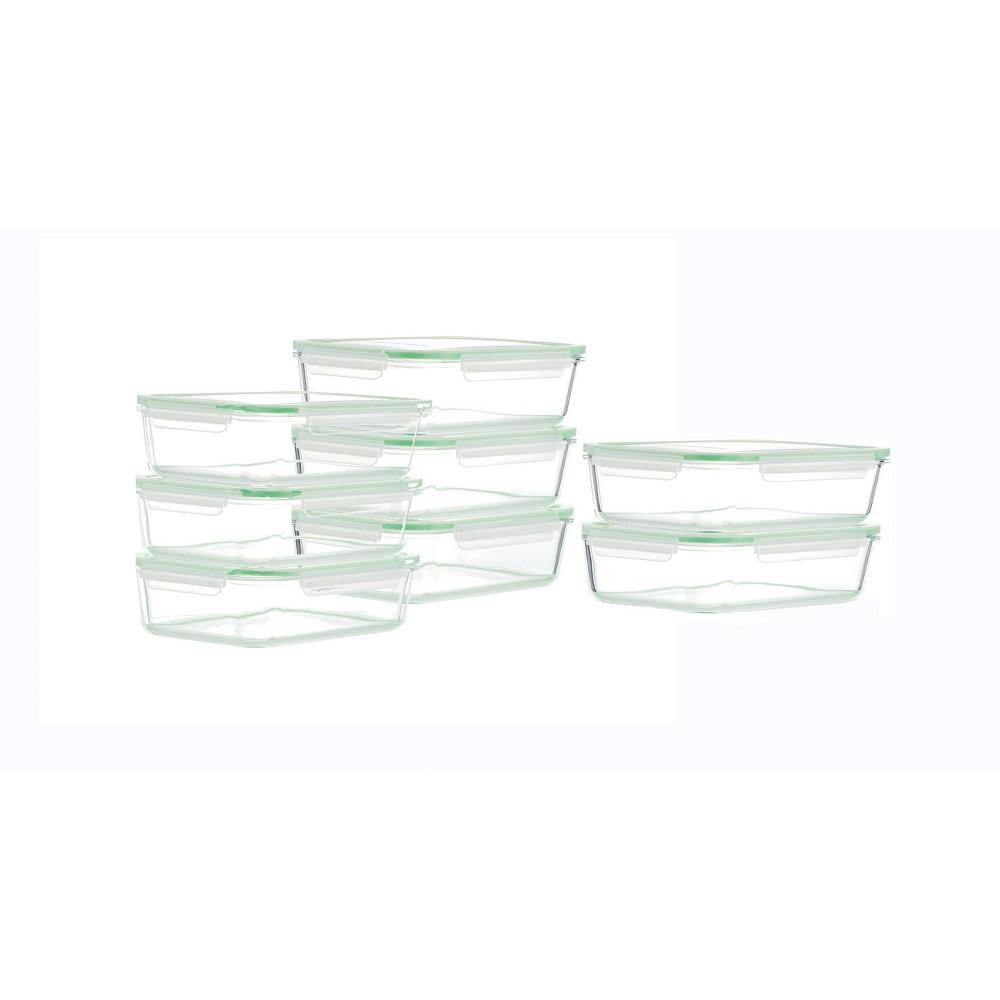 Kinetic Go Green Glassworks Rectangular Food Storage Container Set 22oz